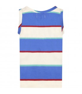 Multicolor tank top for boy with logo