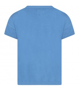 Blue t-shirt for boy with logo