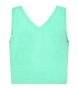 Green top for girl with logos
