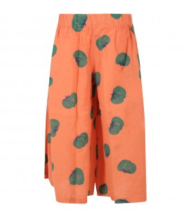 Orange trouser for girl with tomatos