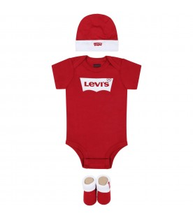 Red set for babykids with logo