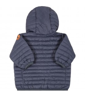 Blue jacket for babykids with iconic patch
