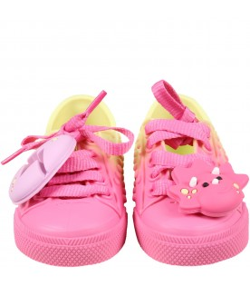 Multicolor shoes for girl with egg
