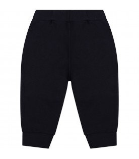 Blue sweatpants for babykids with logo