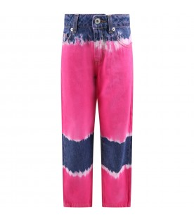 Multicolor jeans for girl