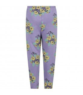 Lilac sweatpants for girl