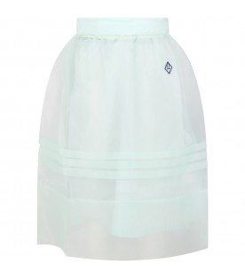 Aquagreen skirt for girl with logo