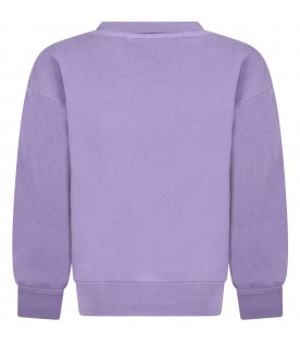 Purple sweatshirt for kids