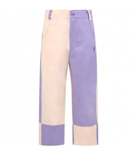 Multicolor pants for girl with logo