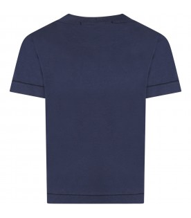 Blue T-shirt fo boy with iconic compass