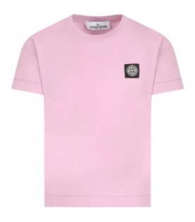 Lilac T-shirt fo boy with iconic compass