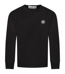 Black T-shirt fo boy with iconic compass