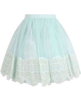 Aqua green skirt for girl