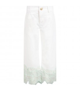 White trousers for girl