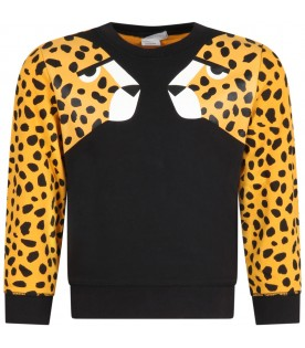 Multicolor sweatshirt for kids with cheetahs