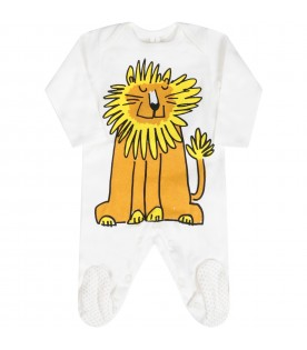 White set for babyboy with lion