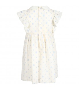 Ivory dress for babygirl with double GG