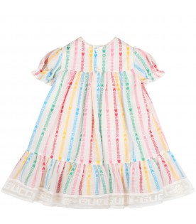 White dress for babygirl with double GG