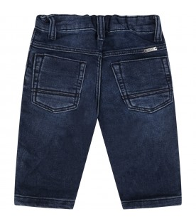 Blue jeans for babyboy with  logo