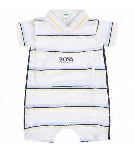 Multicolor set for babyboy with logo