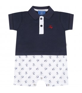 Multicolor romper for babyboy with logos
