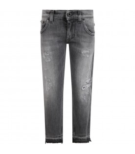 Grey ''Mus'' jeans for boy