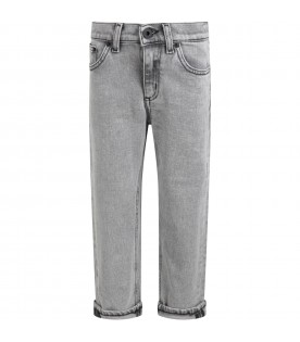 Grey ''Brighton'' jeans for boy with iconic D