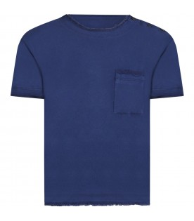Blue t-shirt for boy with iconic D