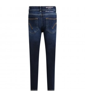 Blue ''Iris'' jeans for girl with iconic D