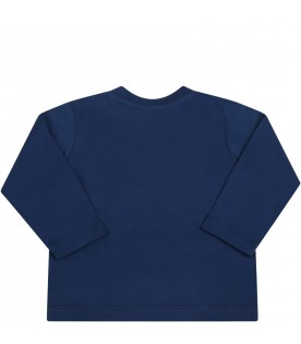 Blue t-shirt for babyboy with monsters