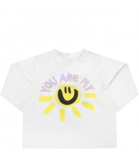 White t-shirt for babykids with sun