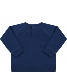 Blue sweatshirt for babykids with musical note