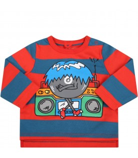 Multicolor t-shirt for babyboy with monster