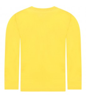 Yellow t-shirt for boy with monsters