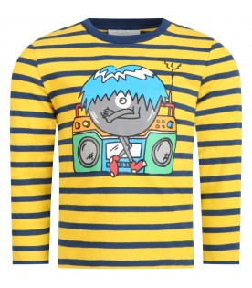 Multicolor t-shirt for boy with monster