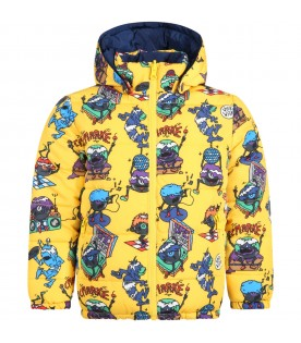 Multicolor jacket for boy with monsters