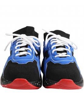 Multicolor sneakers for boy with logo