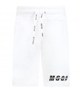 White short for kids with logo