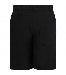 Black shorts for kids with logo