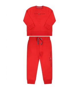 Red set for babyboy with logo