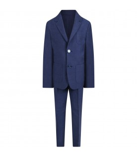 Blue suit for boy with logo