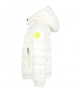 "Ivory ""Antipas"" jacket for kids with logo"