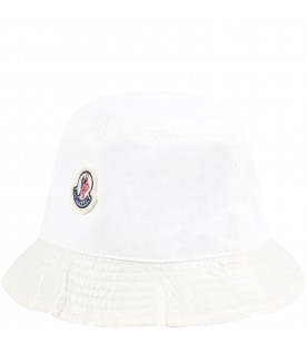 Ivory sun hat for kids
