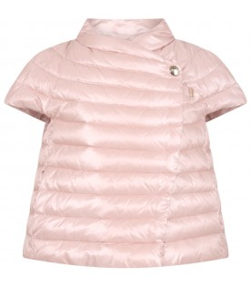 Pink jacket for girl with logo