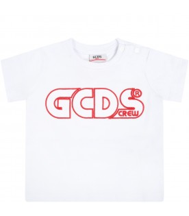 White t-shirt for babykids with logo