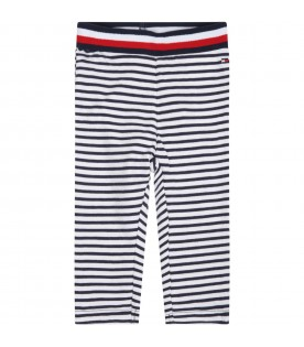Multicolor leggings for babygirl with iconic flag