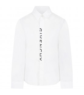 White shirt with logo for boy