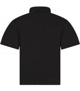 Black shirt for boy with logo
