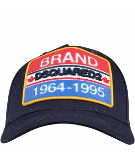 Blue hat for boy with logo