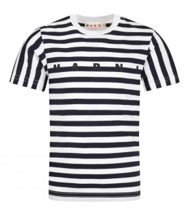 Multicolor t-shirt for kids with logo